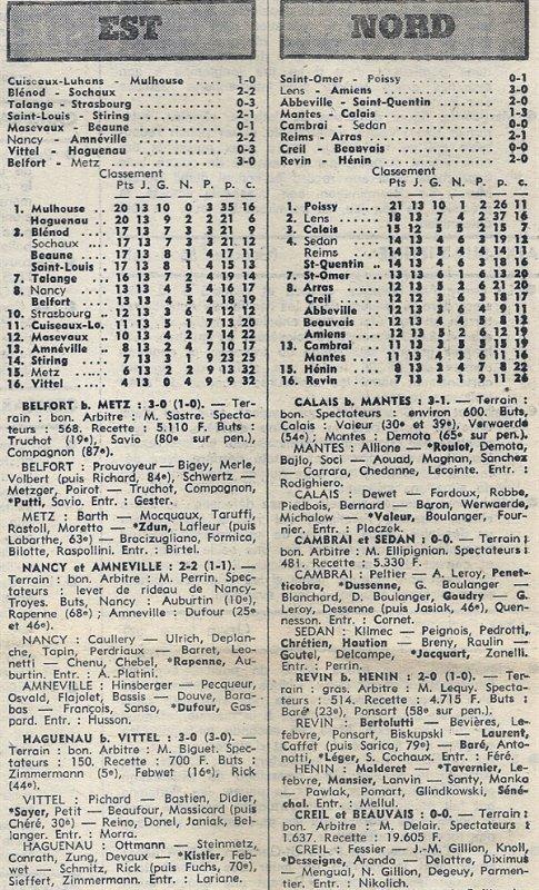 1976 D3 J13 REIMS ARRAS 2-1, le 21/11/1976