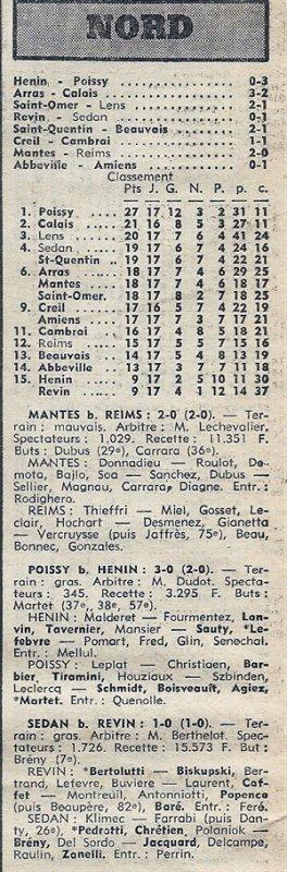 1976 D3 J17 MANTES la VILLE REIMS 2-0, le 23/01/1977
