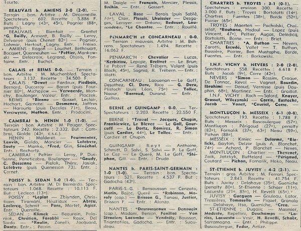 1976 D3 J23 CALAIS REIMS 0-0, le 13/03/1977
