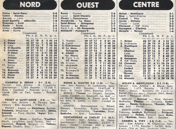 1976 D3 J27 ARRAS REIMS 1-2, le 17/04/1977
