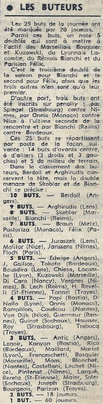 1973 D1 J11 REIMS BORDEAUX 2-0, le 17/10/1973
