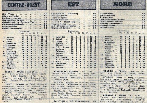 1973 D3 J09 REIMS NOEUX les MINES 1-1, le 21/10/1973