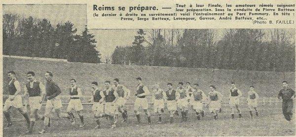 1953 CFA J23 ARMENTIERES REIMS 1-0, le 11/04/1954