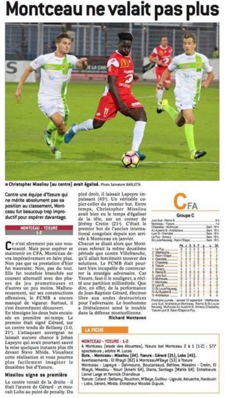 2016 CFA J04 Groupe C  LES AUTRES MATCHES, le 03/09/2016