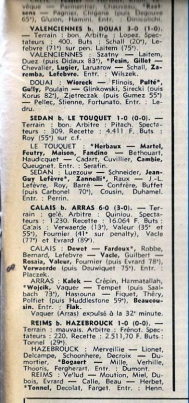 1978 D3 J19 HAZEBROUCK REIMS 0-1, le 18/02/1979