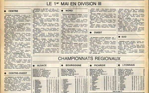 1978 D3 J18 ( joué après J28) REIMS CALAIS 1-3, le 01/05/1979