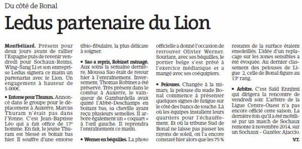 2016 Ligue 2 J07 SOCHAUX REIMS, l'avant match, le 15/09/2016
