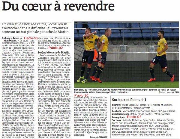 2016 Ligue 2 J07 SOCHAUX REIMS 1-1, le 16/09/2016