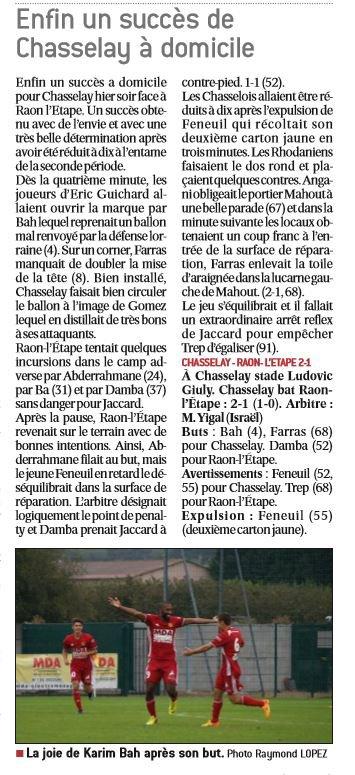 2016 CFA J06 CHASSELAY RAON l' ETAPE 2-1, le 17/09/2016