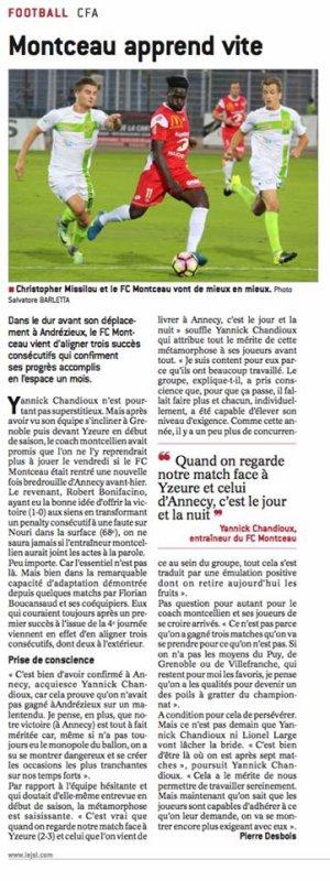 2016 CFA J07 ANNECY MONTCEAU 0-1, le 30/09/2016