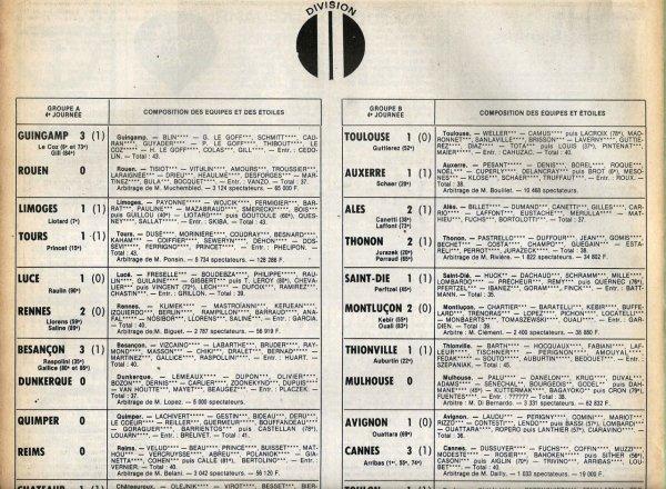 1979 D2A J04 QUIMPER REIMS 0-0, le 01/09/1979