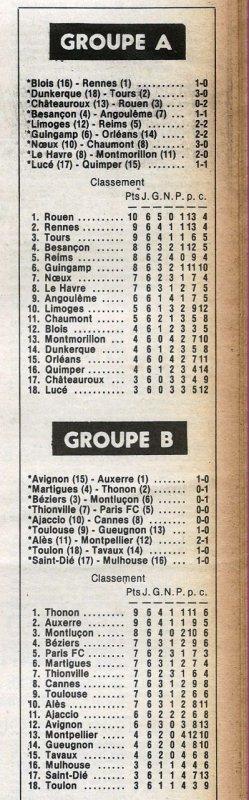 1979 D2A J06 LIMOGES REIMS 2-2, le 15/09/1979