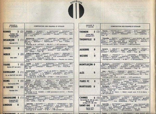 1979 D2A J07 REIMS LE HAVRE 1-1, le 21/09/1979