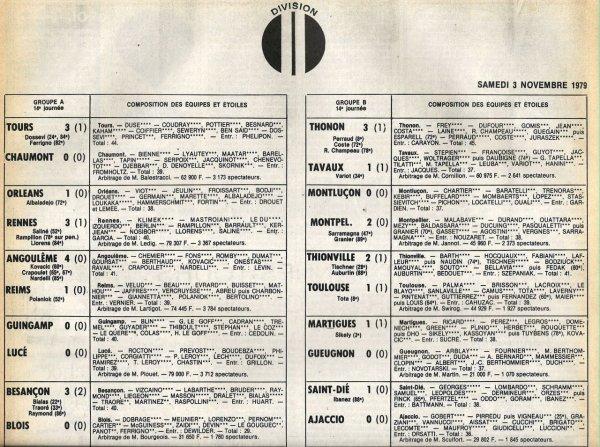 1979 D2A J14 ANGOULÊME REIMS 4-1, le 03/11/1979