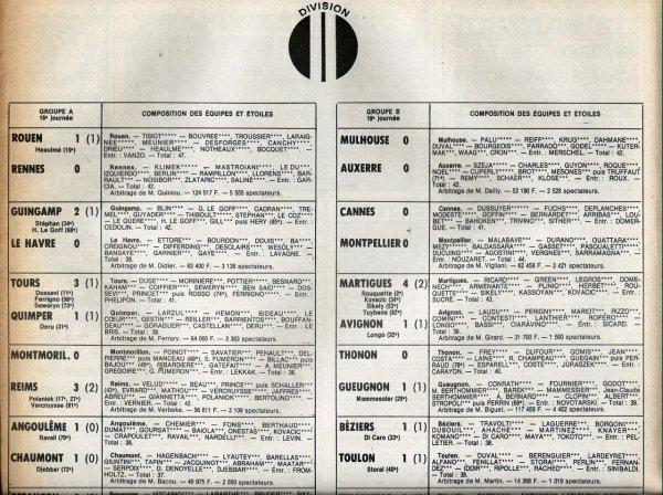 1979 D2A J16 MONTMORILLON REIMS 0-3, le 16/11/1979