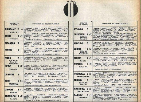 1979 D2A J23 LE HAVRE REIMS 0-2, le 02/02/1980