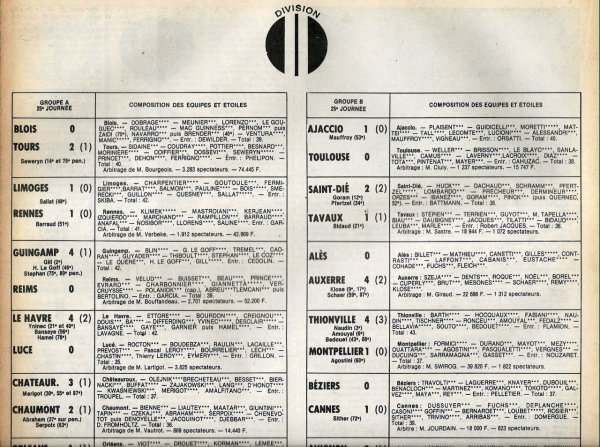 1979 D2A J25 GUINGAMP REIMS 4-0, le 23/02/1980
