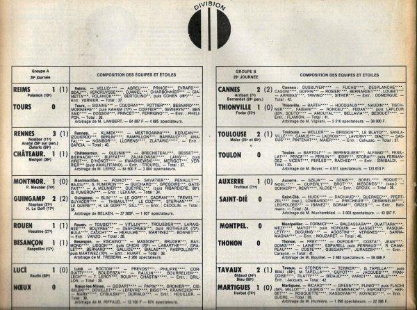 1979 D2A J26 REIMS TOURS 1-0, le 01/03/1980