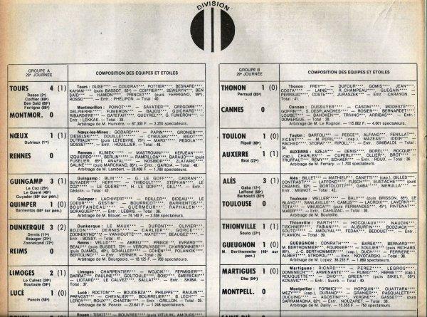 1979 D2A J29 DUNKERQUE REIMS 3-0, le 05/04/1980