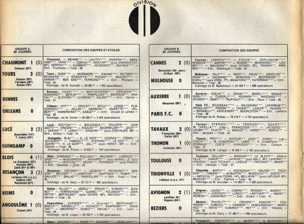 1979 D2A J30 REIMS ANGOULÊME 0-1, le 15/04/1980