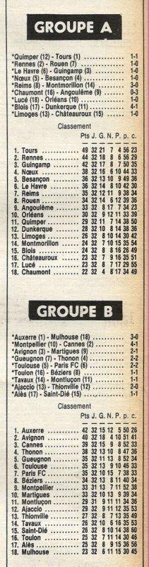 1979 D2A J32 REIMS MONTMORILLON 3-0, le 03/05/1980