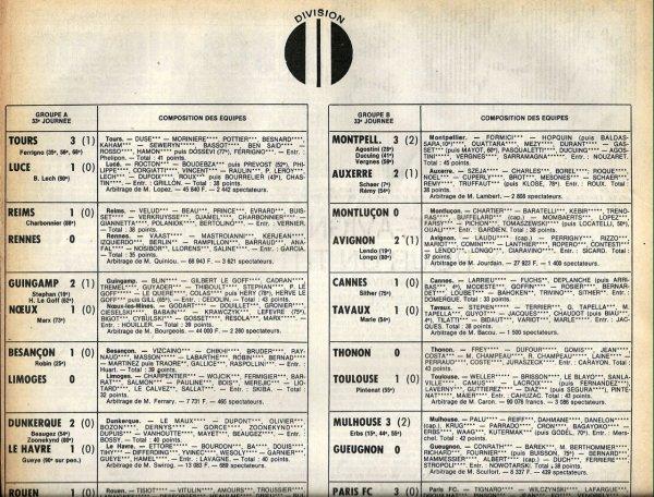 1979 D2A J33 REIMS RENNES 1-0, le 17/05/1980