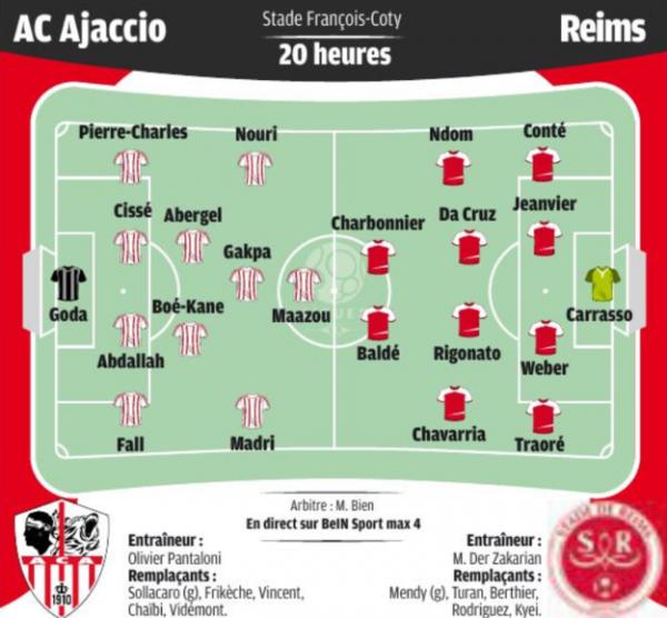 2016 Ligue 2 J11 AJACCIO REIMS, l'avant match, le 14/10/2016