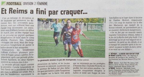 2016 D2 Féminines J06 REIMS La ROCHE sur YON 0-1, le 16/10/2016