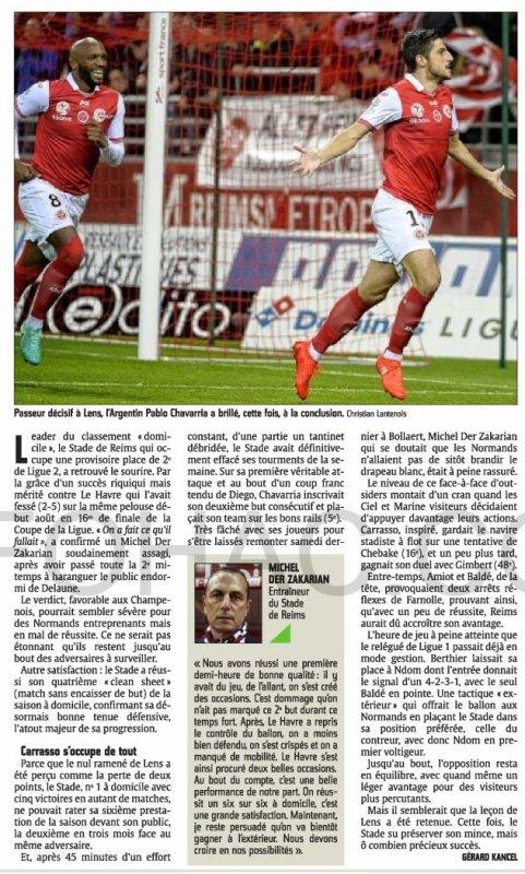 2016 Ligue 2 J13 REIMS LE HAVRE 1-0, le 28/10/2016