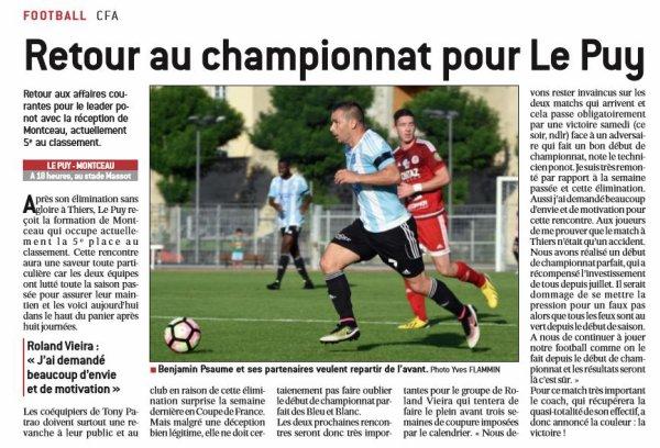 2016 CFA J09 LE PUY MONTCEAU 2-0 , le 29/10/2016