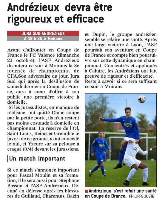 2016 CFA J08 JURA SUD ANDREZIEUX 4-1, le 15/10/2016