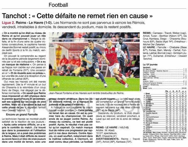 2016 Ligue 2 J13 REIMS LE HAVRE 1-0, les + du Blog, le 30/10/2016