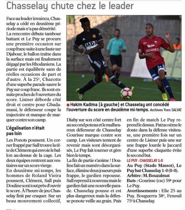 2016 CFA J07 LE PUY CHASSELAY 1-0, le 01/10/2016