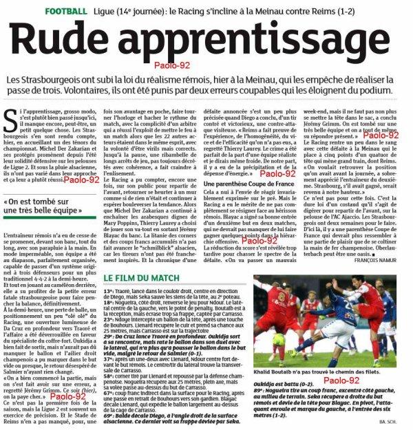 2016 Ligue 2 J14 STRASBOURG REIMS 1-2, le 05/11/2016