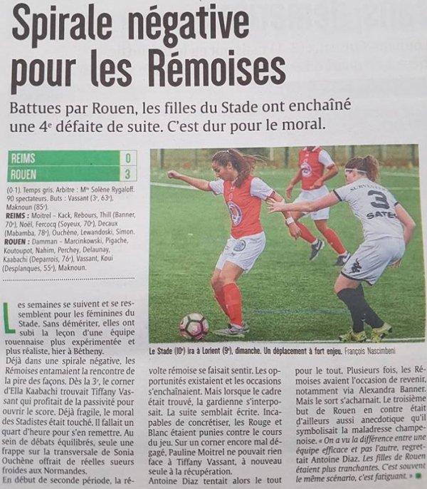 2016 D2 Féminines J09 REIMS ROUEN 0-3, le 13/11/2016