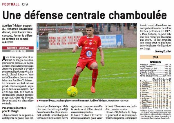 2016 CFA J11 ANNECY REIMS, l'avant match , le 19/11/2016