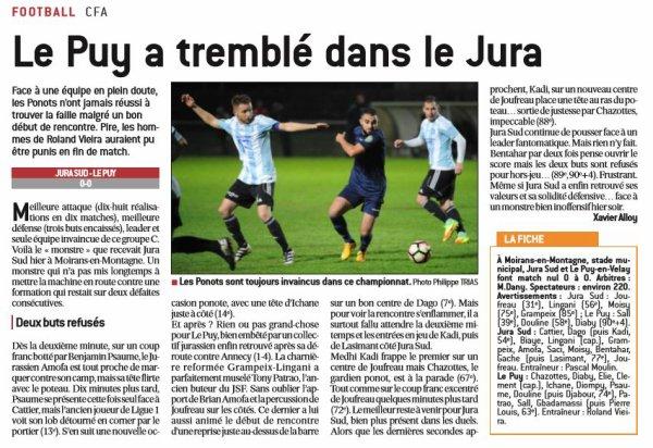 2016 CFA J12 JURA SUD LE PUY 0-0, le 26/11/2016