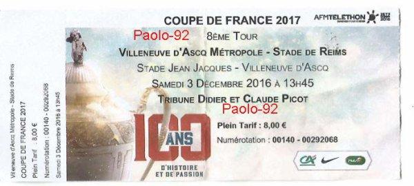 2016 CDFT8 VILLENEUVE d'ASCQ REIMS 0-7, le 03/12/2016