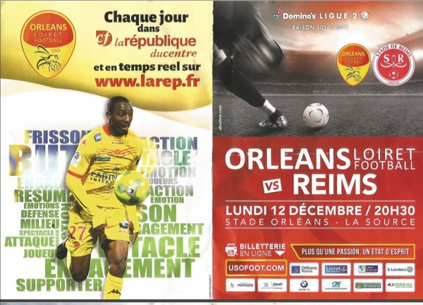 2016 Ligue 2 J18 ORLEANS REIMS 2-2, les + du Blog,  le 14/12/2016