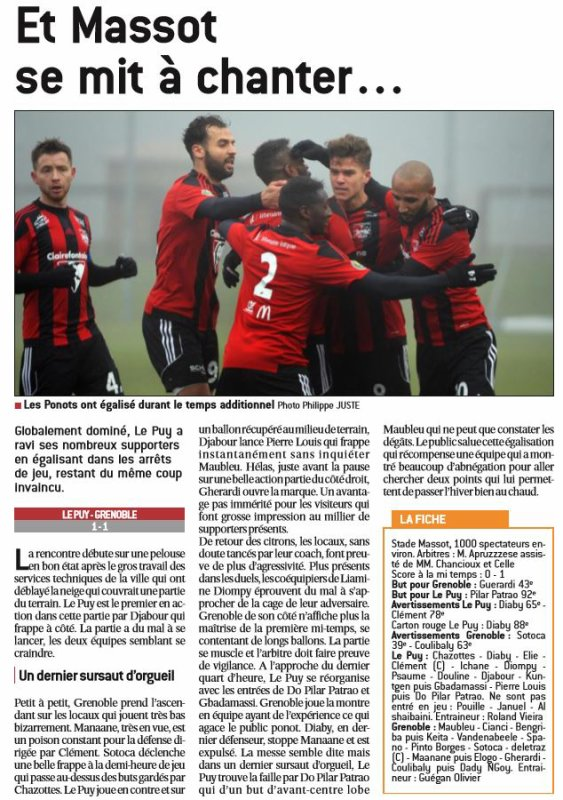 2016 CFA J15 LE PUY GRENOBLE 1-1, le 21/12/2016
