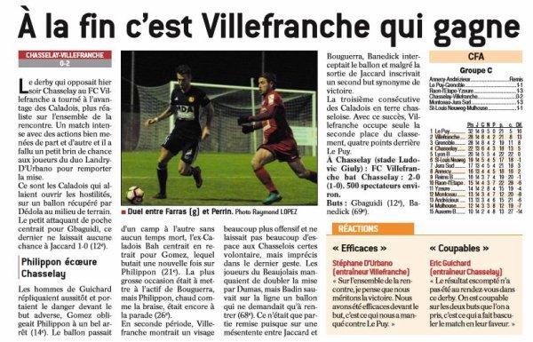 2016 CFA J15 CHASSELAY VILLEFRANCHE 0-2, le 21/12/2016