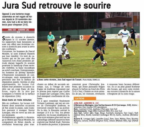 2016 CFA J14 JURA SUD AUXERRE 2-0, le 17/12/2016