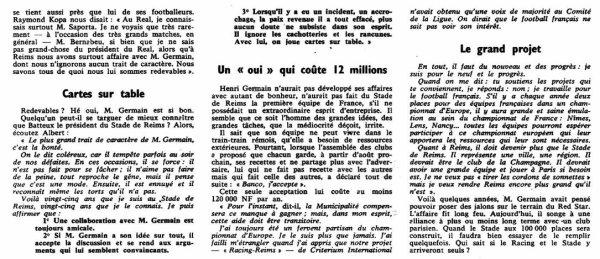 1962 D1 : HENRI GERMAIN se RACONTE, le 30/07/1962