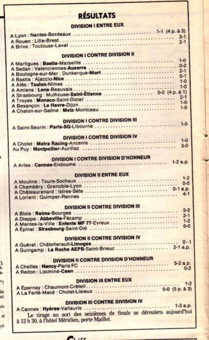 1987 CDF 32ème Finale REIMS BOURGES 3-2, le 12/03/1988