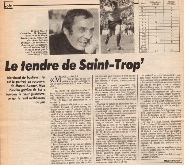 1989 Ex rémois AUBOUR : Interview d'un homme heureux, le 20/07/1989