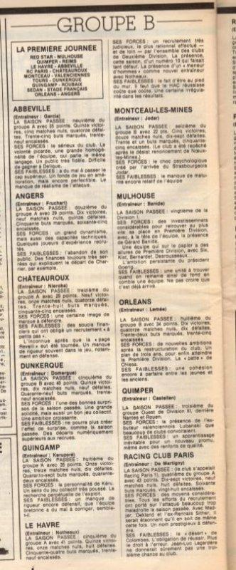 1983 D2B J00, les Forces en présence, le 15/07/1983
