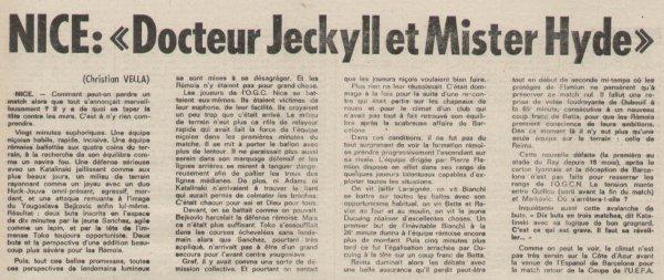 1976 D1 J08 NICE REIMS 2-3, le 24/09/1976