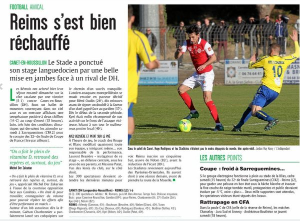 2016 AMICAL CANET en ROUSSILLON REIMS 1-5, le 04/01/2017