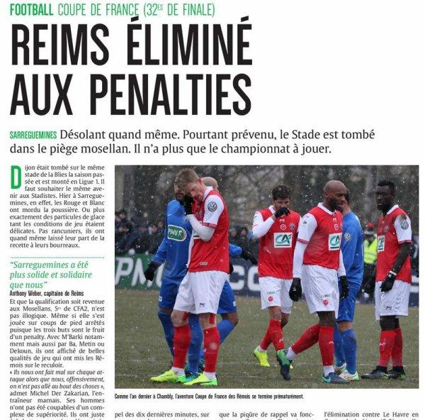 2016 CDF 32ème Finale SARREGUEMINES REIMS 2-1, le 07/01/2017