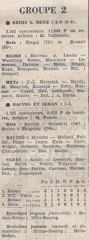 1964 CDL J01 REIMS METZ 2-0, le 02/08/1964